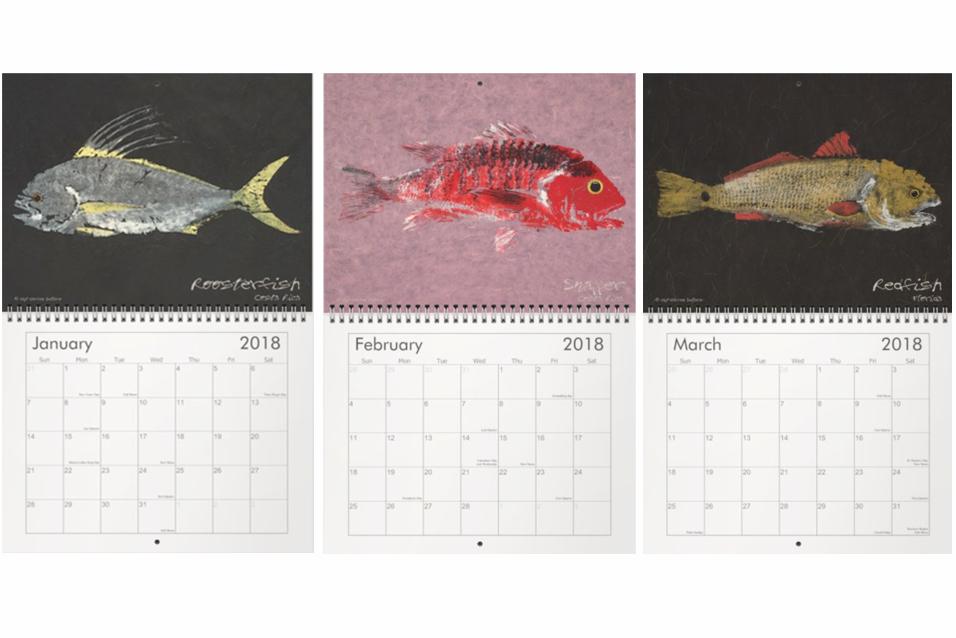 gyotaku calendar