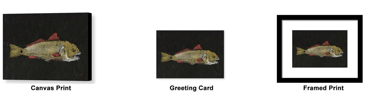 redfish gyotaku print