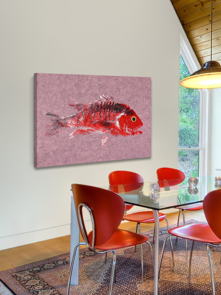 snapper gyotaku wall art