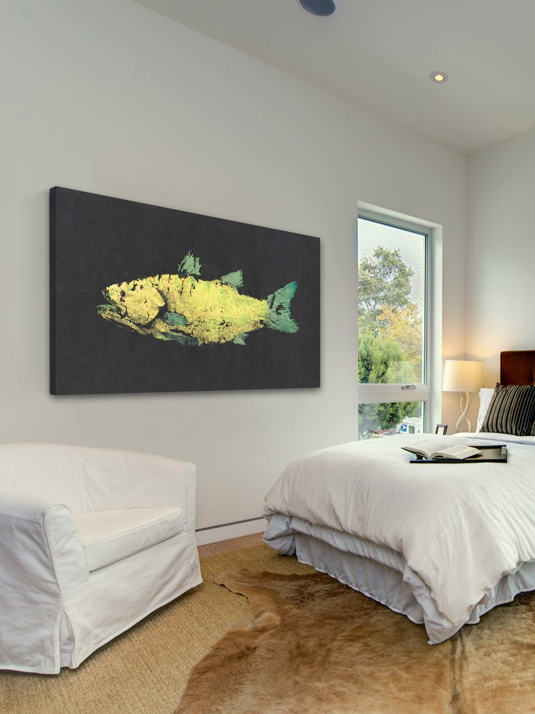 snook gyotaku wall art