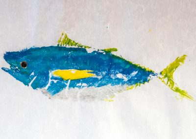 Gyotaku fish rubbing