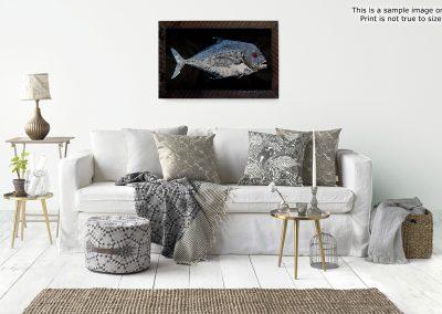 Gyotaku African Pompano