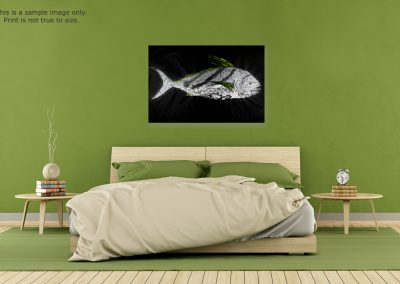 Gyotaku Roosterfish