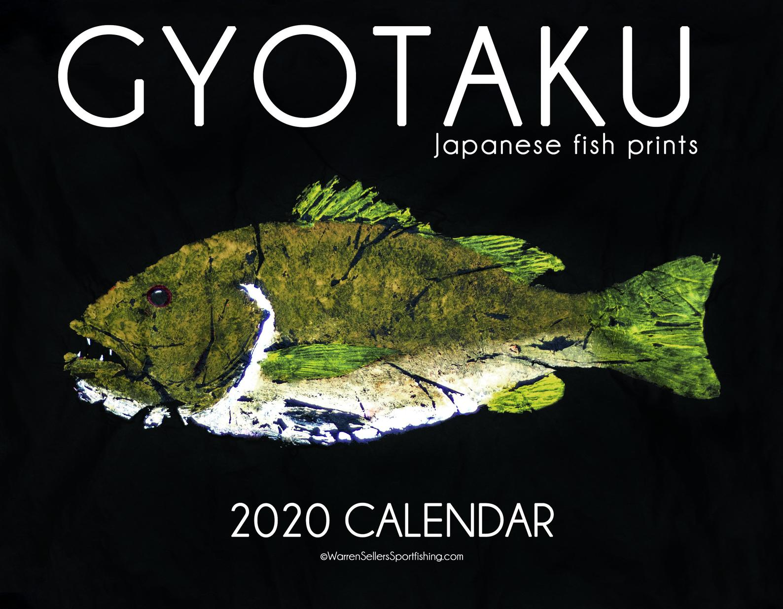 Gyotaku Fish Art Calendar