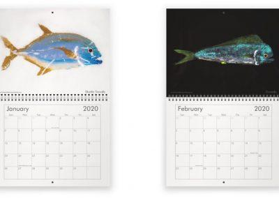 Gyotaku fish calendar