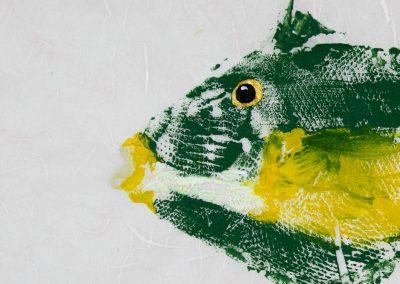 unique nautical art triggerfish