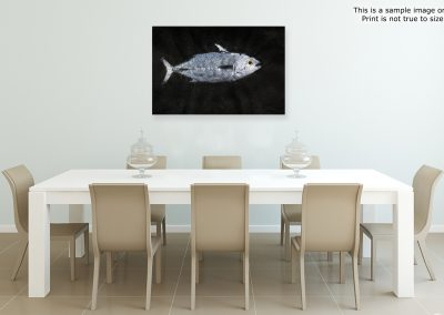 gyotaku saltwater fish prints on japanese paper