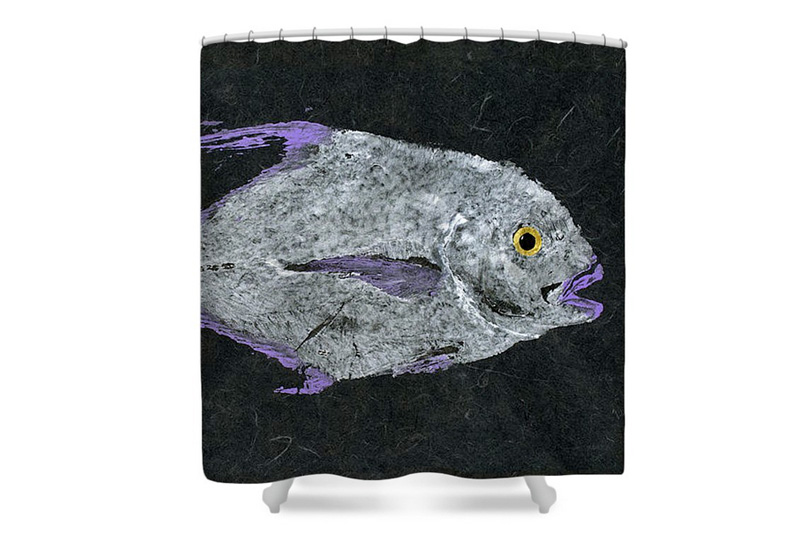 Gyotaku Shower Curtain Fine Art America